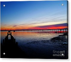 Sunset On The Shore Of Southend Acrylic Print