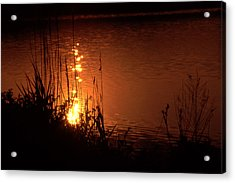Sunset On The Water Acrylic Print by Barry Shaffer