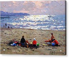 Sunset On The Waves Acrylic Print