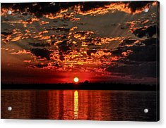 Sunset On The Zambezi Acrylic Print