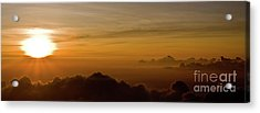 Sunset On Top Of Haleakala Acrylic Print by Denis Dore