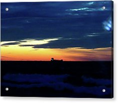 Sunset On Winter Solstice Eve Acrylic Print