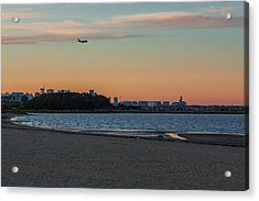 Sunset On Wollaston Beach In Quincy Massachusetts Acrylic Print