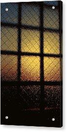 Sunset Orange Acrylic Print