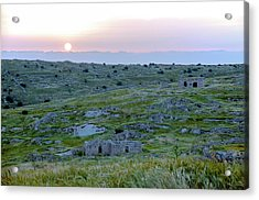 Sunset Over A 2000 Years Old Village Acrylic Print