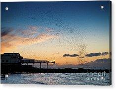 Sunset Over Aberystwyth Pier Acrylic Print