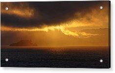 Sunset Over Alcatraz Acrylic Print