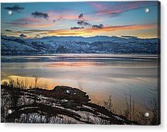 Sunset Over Altafjord Norway Acrylic Print