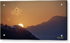 Acrylic Print featuring the photograph Sunset Over Asia  by Rikk Flohr