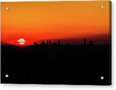 Sunset Over Atlanta Acrylic Print