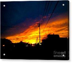 Sunset Over Auburn Acrylic Print