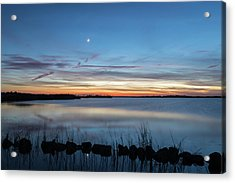 Sunset Over Back Bay Acrylic Print