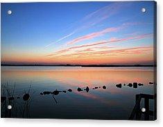 Sunset Over Back Bay National Wildlife Refuge Acrylic Print