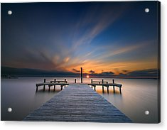 Sunset Over Barnegat Bay Acrylic Print by Rick Berk