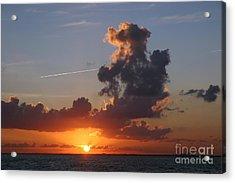 Sunset Over Biscayne Bay Acrylic Print by Matt Tilghman