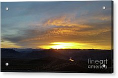 Sunset Over Black Canyon And River #1 Acrylic Print