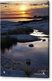 Sunset Over Boothbay Harbor Maine  -23095-23099 Acrylic Print