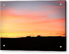 Sunset Over Cairnpapple Acrylic Print by RKAB Works