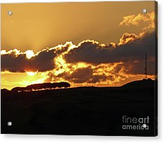 Sunset Over Calver Peak Acrylic Print