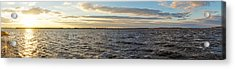 Acrylic Print featuring the photograph Sunset Over Cape Fear River by Willard Killough III