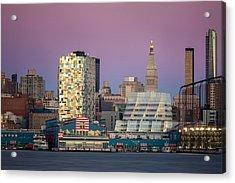 Sunset Over Chelsea Acrylic Print by Eduard Moldoveanu