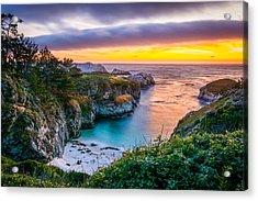 Sunset Over China Cove Acrylic Print