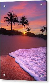 Sunset Over Coral Cove Park In Jupiter, Florida Acrylic Print