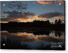 Sunset Over Cranberry Bogs Acrylic Print by Kenny Glotfelty