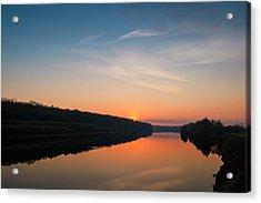 Sunset Over Desna River. Horytsya, 2014. Acrylic Print