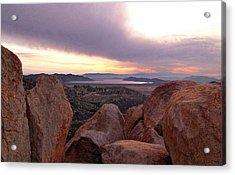 Sunset Over Diamond Valley Lake Acrylic Print by Glenn McCarthy Art and Photography