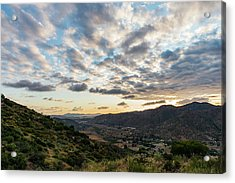 Sunset Over El Monte Valley Acrylic Print