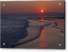 Sunset Over Exmouth Beach Acrylic Print