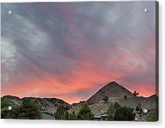 Sunset Over Farmland In Central Oregon Acrylic Print