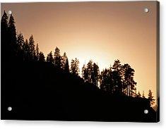 Sunset Over Glacier Point Acrylic Print