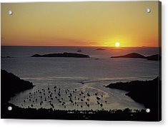 Sunset Over Great Cruz Bay Acrylic Print