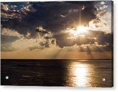 Sunset Over Gulf Of Mexico Acrylic Print