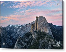 Sunset Over Half Dome Acrylic Print