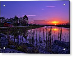 Sunset Over Hungryland Wildlife Management Area Acrylic Print