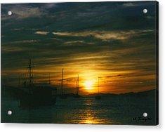 Acrylic Print featuring the photograph Sunset Over Isla Margarita by Maciek Froncisz