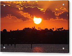Acrylic Print featuring the photograph Sunset Over Jensen by Don Youngclaus
