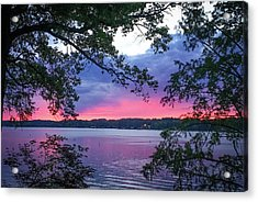 Sunset Over Lake Cherokee Acrylic Print