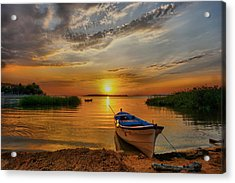 Sunset Over Lake Acrylic Print