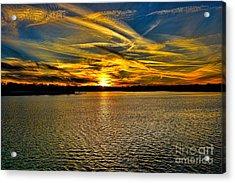 Sunset Over Lake Palestine Acrylic Print