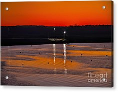 Acrylic Print featuring the photograph Sunset Over Lake Texoma by Diana Mary Sharpton