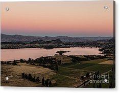 Sunset Over Lake Wanaka In New Zealand Acrylic Print