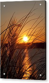 Sunset Over Lake Wylie Sc Acrylic Print by Dustin K Ryan
