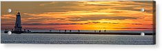 Sunset Over Ludington Panoramic Acrylic Print