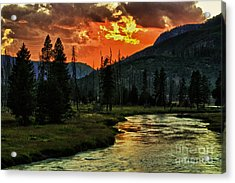 Sunset Over Madison River Acrylic Print
