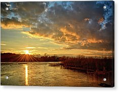 Sunset Over Marsh Acrylic Print