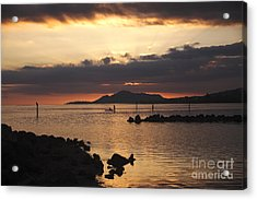 Sunset Over Maunalua Bay Acrylic Print